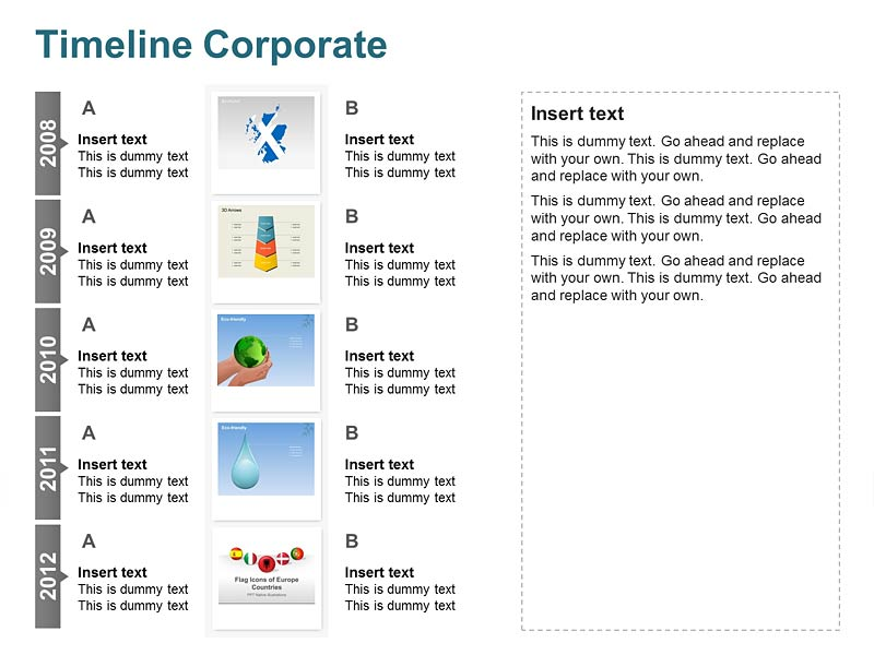 Corporate Timeline of PPT Slides