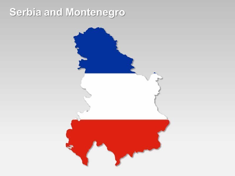 National Flag of Serbia and Montenegro