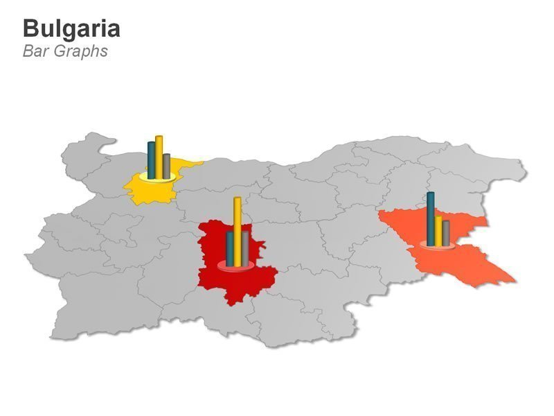 PowerPoint Bulgaria Map - Graphs