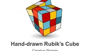 Editable PowerPoint Slides - Hand-drawn Rubik's Cube