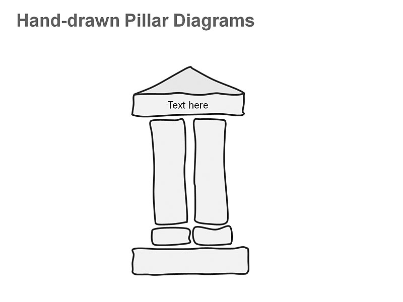 PowerPoint Slide - Illustration of Pillar Diagrams showing Remote Networks - Two Pillars