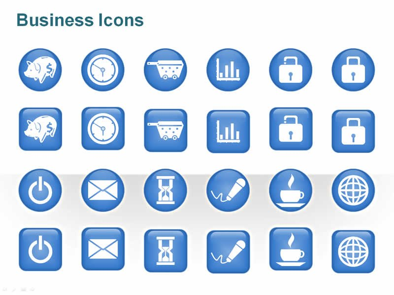 PPT Illustration on Business Icons