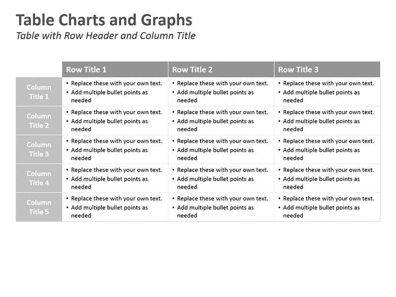 Data Analysis Table PowerPoint Slide