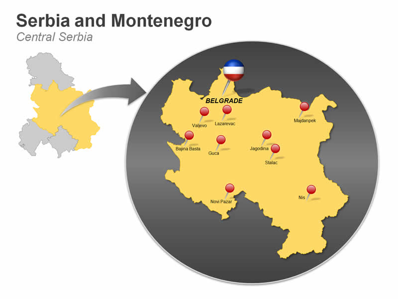 Central Serbia and Montenegro PPT Map