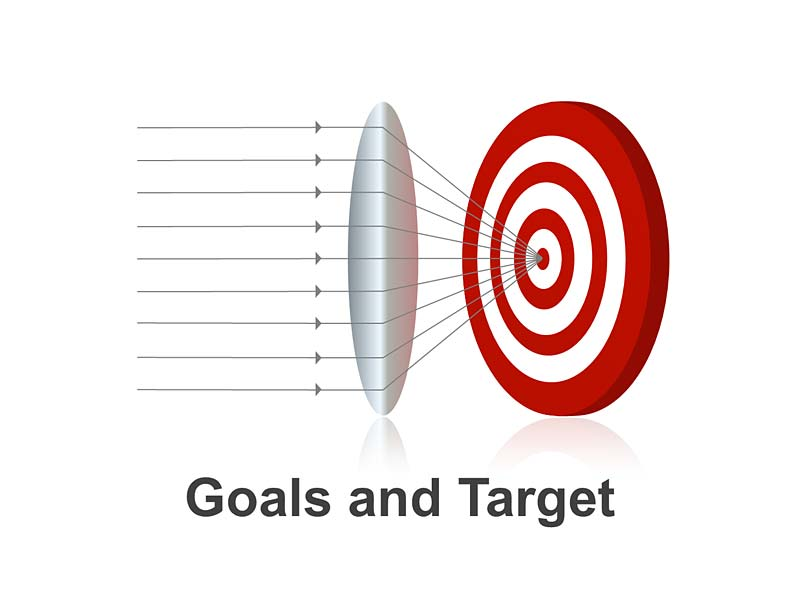 Goals and Target - Editable PowerPoint Slide