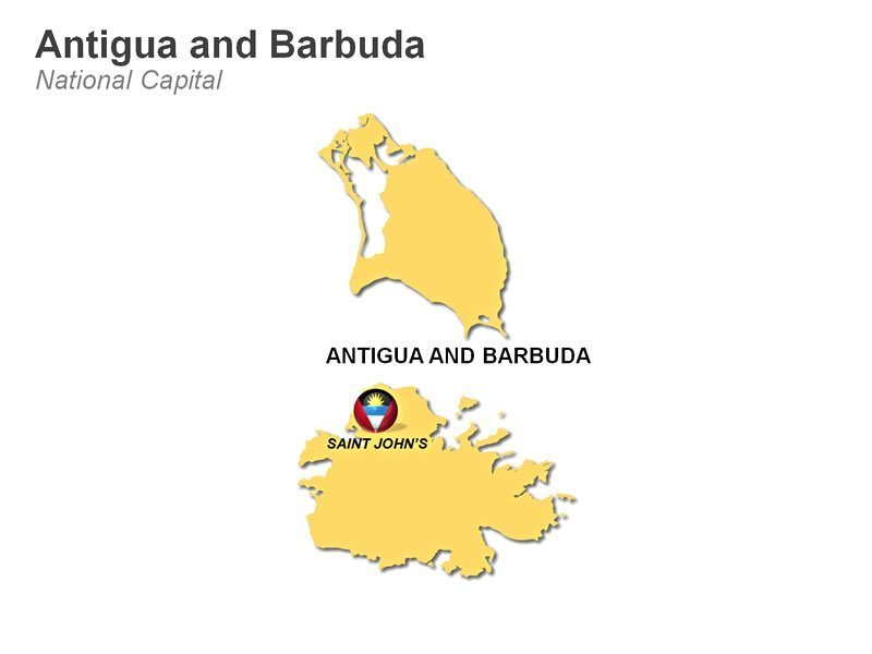 PPT Presentation Map of Antiqua and Bermuda