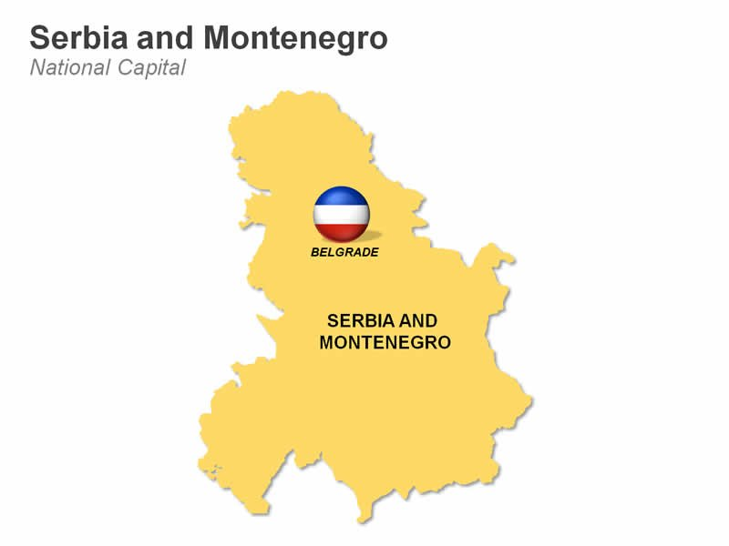 PPT Slide Map of Serbia and Montenegro