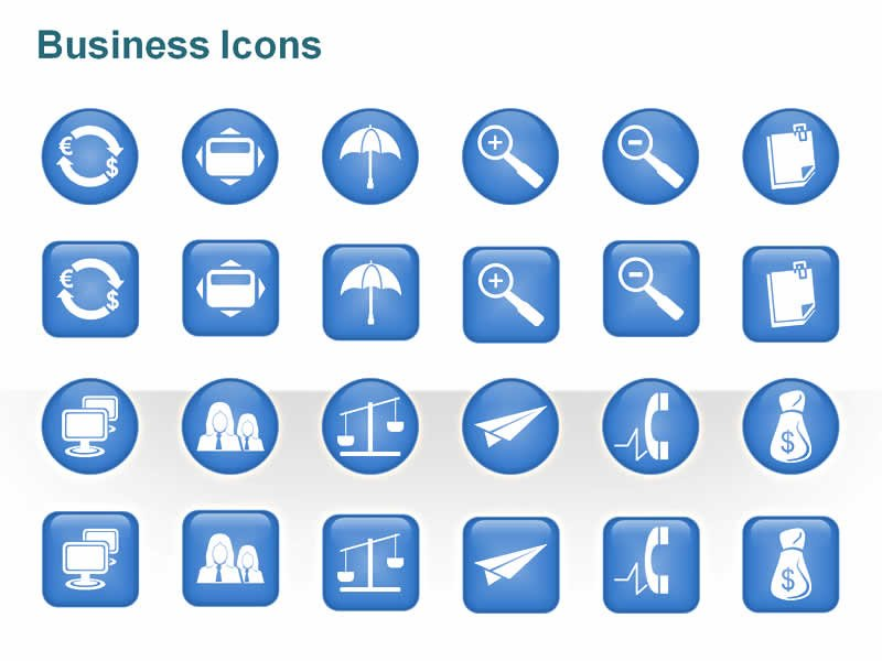 PowerPoint Slides on Business Icons