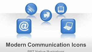 Communication Icons - Editable PowerPoint Illustrations