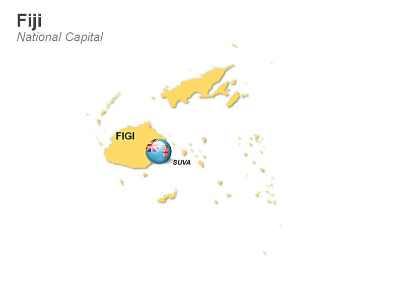 Editable PowerPoint Fiji Map