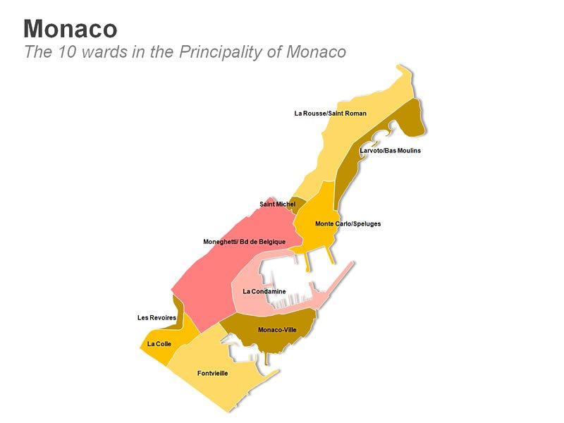 Principality of Monaco Map PPT