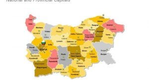 Bulgaria Provinces Map PowerPoint