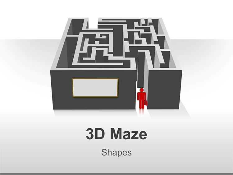 PowerPoint Shape of 3D Maze