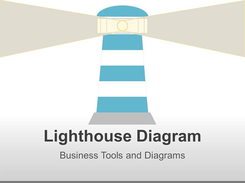 Editable PowerPoint Slide - Lighthouse Illustrations