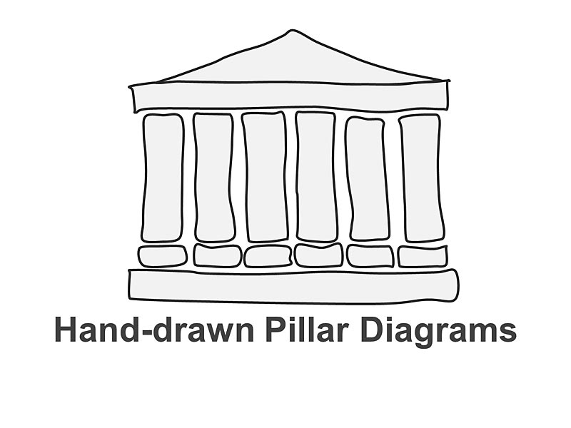 Editable Greek Pillar Diagrams - PowerPoint Slides