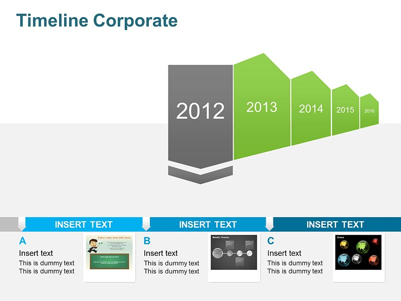 PPT Slide on Business History Timeline