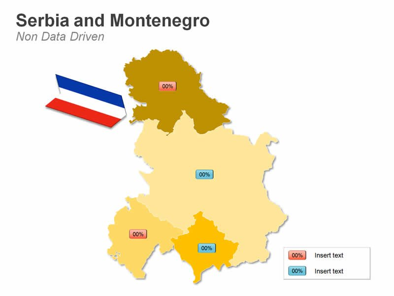 PPT Map of Serbia and Montenegro