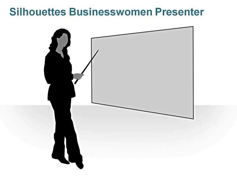 Editable PPT of Silhouettes - Business Suits