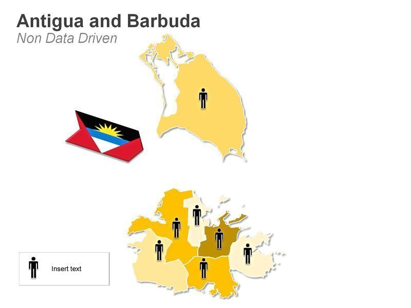 Map of Antigua and Barbuda - Demographic