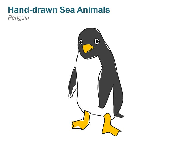 Penguin Editable PowerPoint Cliparts