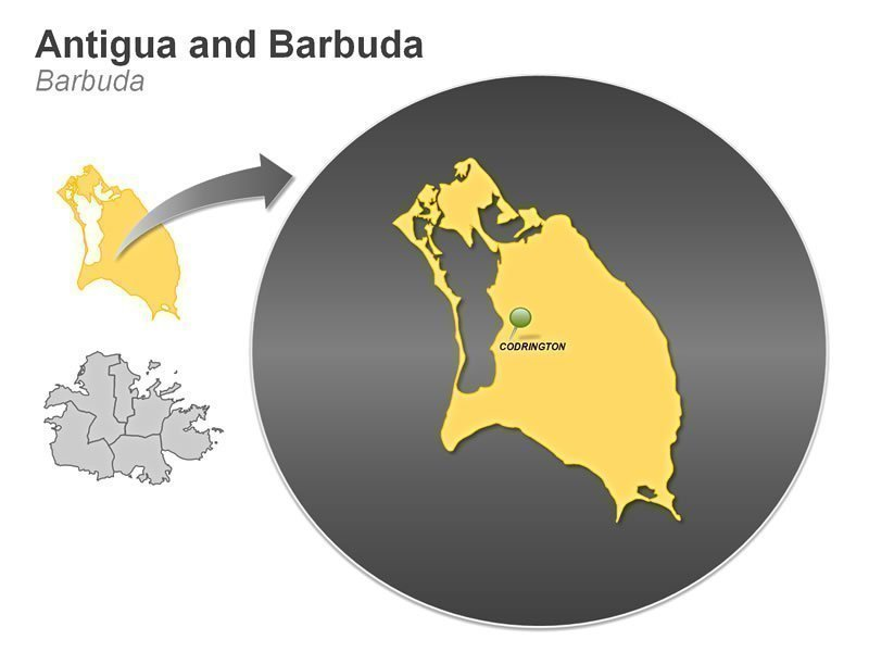 PPT Map Antigua and Barbuda