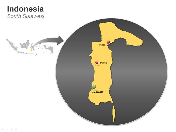 South Sulawesi Map of Indonesia