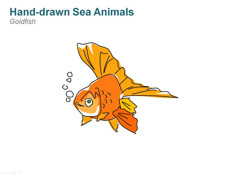 Goldfish Editable PowerPoint Cliparts