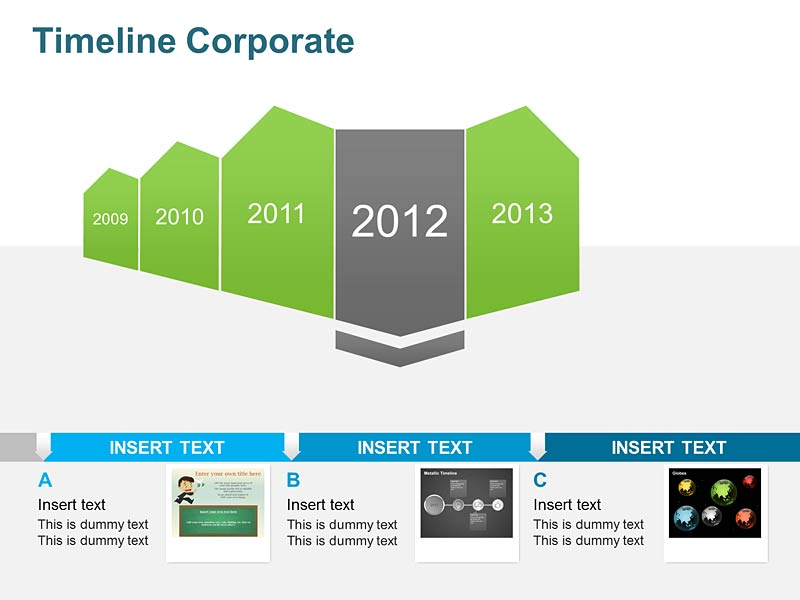 Timeline Corporate Planning - PowerPoint Slide