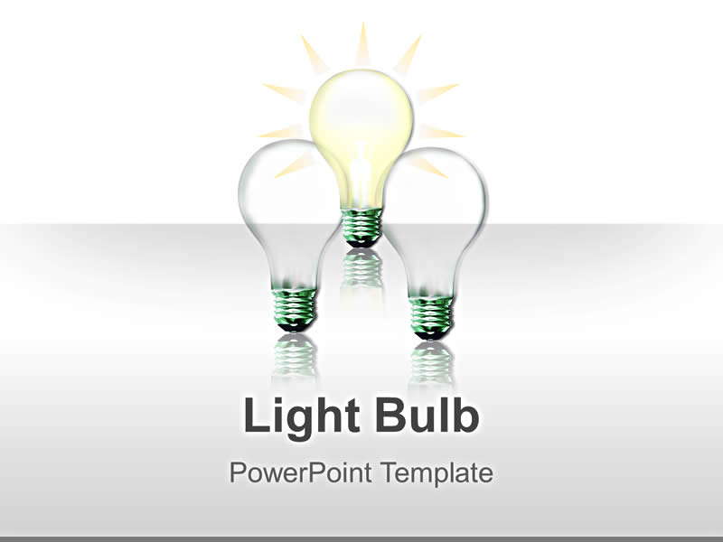 Business Templates Presentation - Light Bulb
