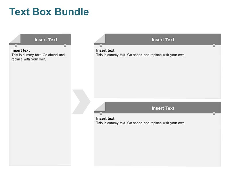 Text Box Diagram Business PowerPoint Slide