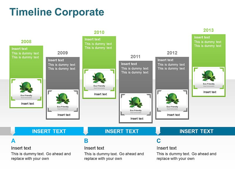 PowerPoint Presentations of Timeline Corporate