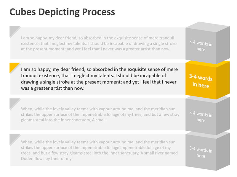Production Process Diagram - PowerPoint Slide