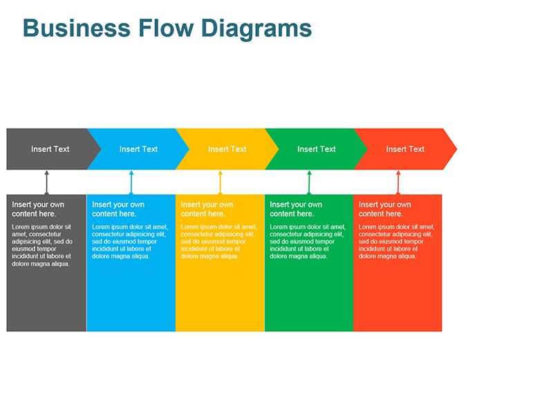Sales Process Flow Diagram - Editable PowerPoint Slide