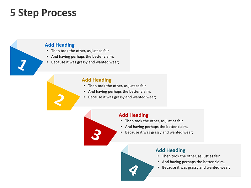 Four Step Planning Process - PowerPoint Slide