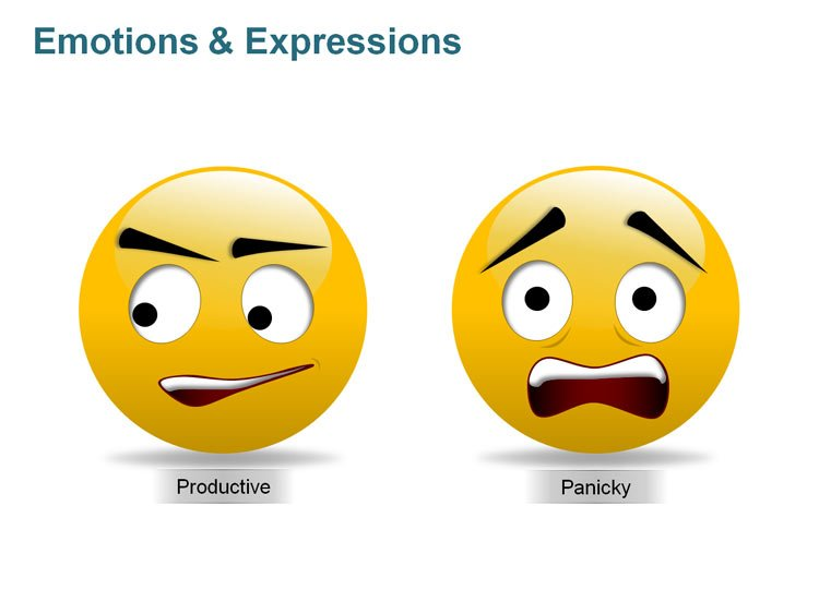 Emotions Icons of Smiley PPT
