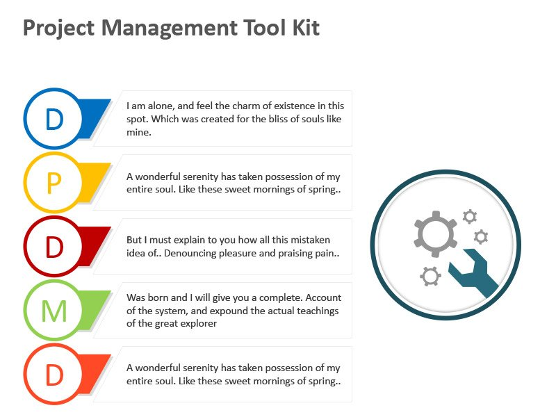 Management Diagram - Editable PPT Slide