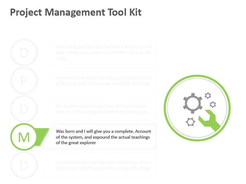 Business Management Tools - Editable PPT Slide