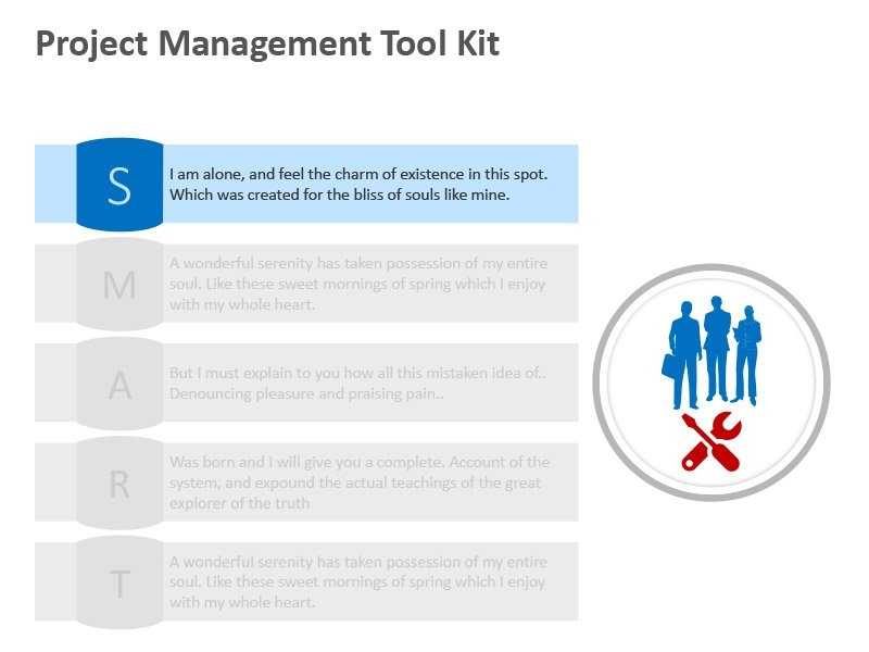Project Management Tool - Editable PPT Slide