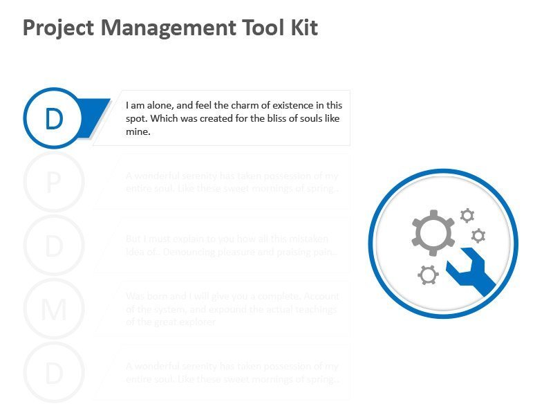 Project Tool Kit Diagram - Editable PPT Slide