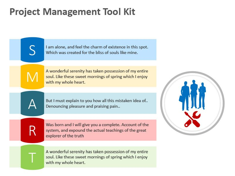 SMART - Project Management Tool - Editable PowerPoint Slide