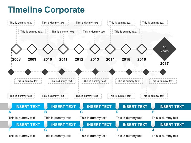 PowerPoint Slides of Timeline Corporate
