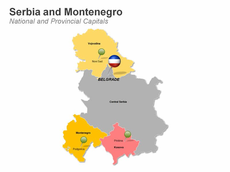 PPT Map of Serbia and Montenegro - Provinces