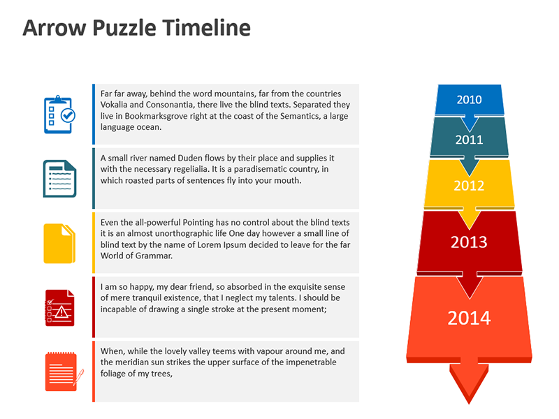 Sales and Marketing Timeline - PowerPoint Slide