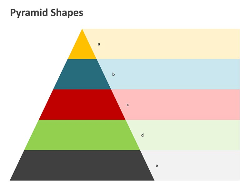 Editable Pyramid Graaphic Shape PPT Slide