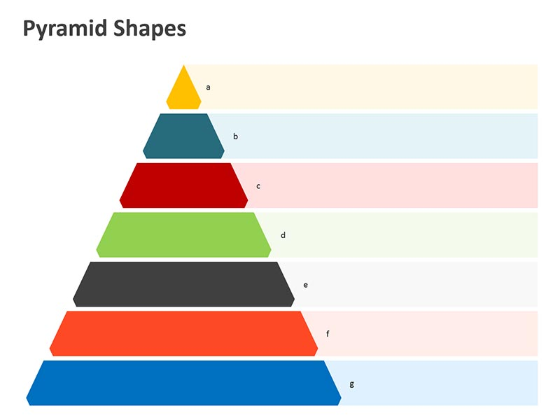 Pyramid Steps Diagram in Business Meetings