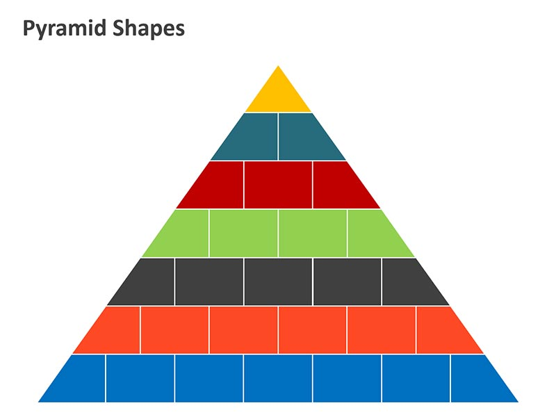Pyramid Bricks Diagram PPT
