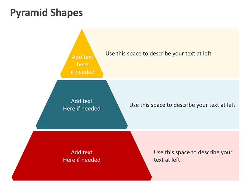 Pyramid Shapes Smart Art Graphic