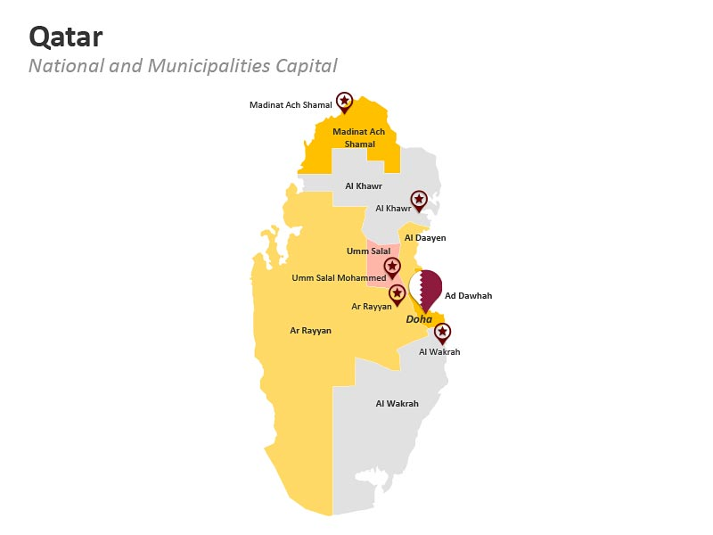 Municipalities of Qatar Map