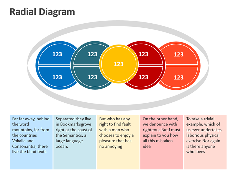 Radial Graphics Diagrams - PPT Slide