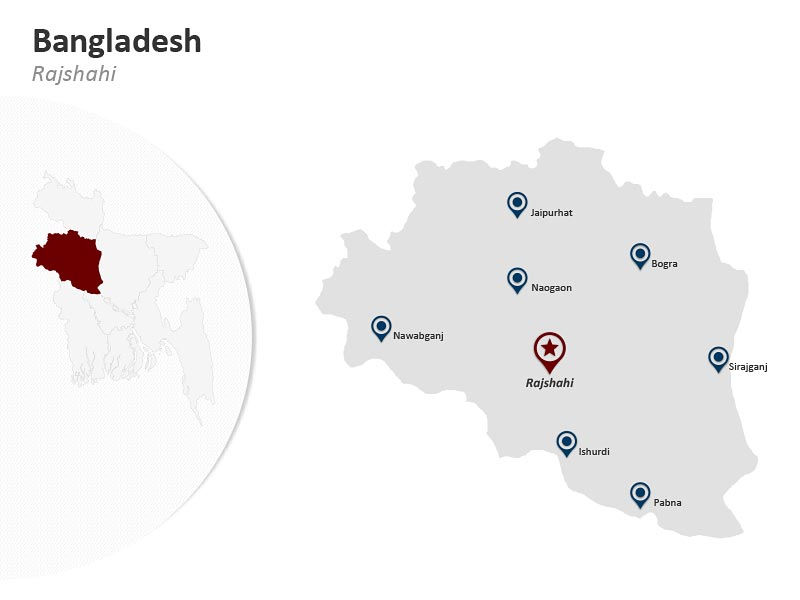 PPT Map of Bangladesh Rajshahi